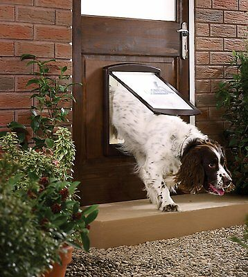 Pet Door Dog Cat 2 Way Flap Large Brown Entrance Safe PetSafe Staywell Original