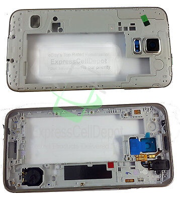 Samsung Galaxy S5 SM-G900 Frame Mid Bezel Chassis Housing Cover with Small Parts - Mid Chassis Frame