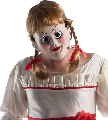 Annabelle Creation Mask Wig Scary Doll Fancy Dress Halloween Costume Accessory](Annabelle Doll Halloween Costume)
