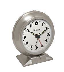 Westclox 90010 Metal Quartz Alarm Clock, Battery Powered