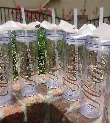 Bridesmaid acrylic tumbler gift bachelorette party cup favor bridal party gift - Bachelorette Tumblers