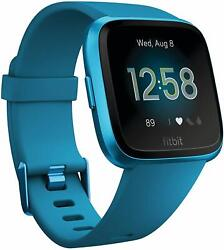 Fitbit Versa Lite Edition Smart Watch GPS Heart Rate Sleep Stages Bluetooth Blue