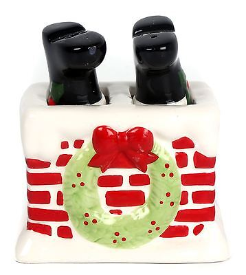 Ceramic Father Christmas Table Cruet Novelty Salt And Pepper Set