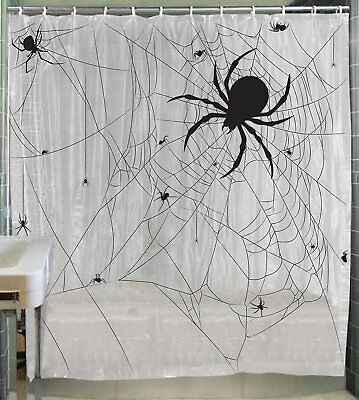 Spider Web Shower Curtain Halloween Decoration Prop NEW - Spider Web Halloween Decoration