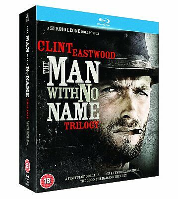 Clint Eastwood   The Man With No Name Trilogy  Blu Ray  3 Discs   New