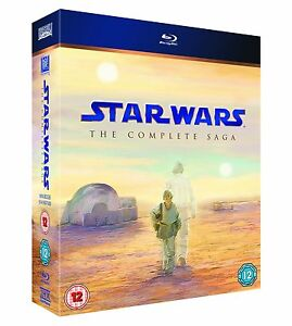 STAR WARS THE COMPLETE SAGA 1 2 3 4 5 & 6 + BONUS FEATS NEW SEALED BLURAY BOXSET