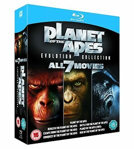 Planet of the Apes Evolution Collection all 7 Movies Blu-ray Region Free