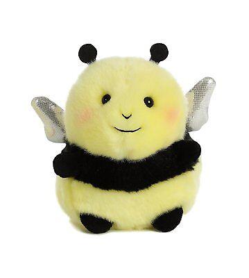 Bee Happy Rolly Pet 5 inch - Stuffed Animal by Aurora Plush (08819) - Bee Stuffed Animal