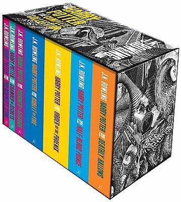 The Complete Harry Potter Boxed Gift Collection 7 Books Set J.K. Rowling NEW BLS