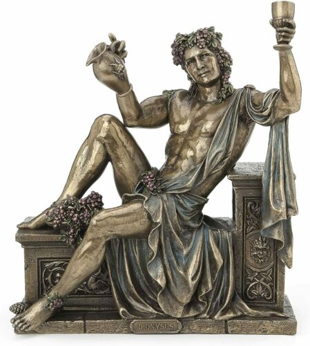 RARE Dionysus Greek God Statue Sculpture Collectible Figurine Greek Decor Accent
