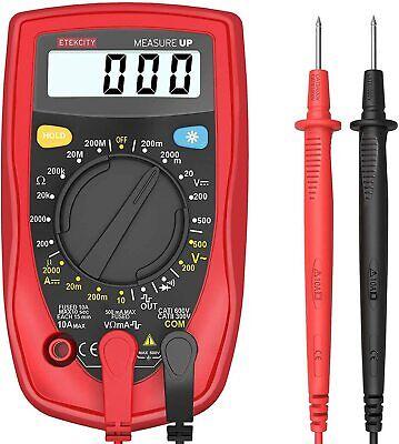 Etekcity Digital Multimeter Ac Dc Volt Ohm Amp Meter Voltage Tester Us Seller