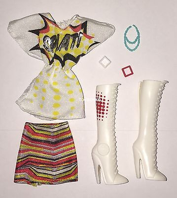 Monster High Wydowna Spider I Heart Fashion Doll Outfit & Shoes NEW White - Monster High Boots