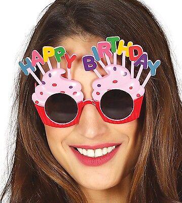 Damen Neuheit Pink Cupcake Geburtstagsparty Brillen Kostüm - Damen Cupcake Kostüm