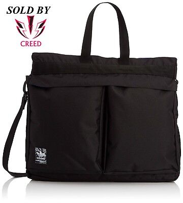 adidas Originals Classic Street Shopper Bag Black Trefoil   S20089