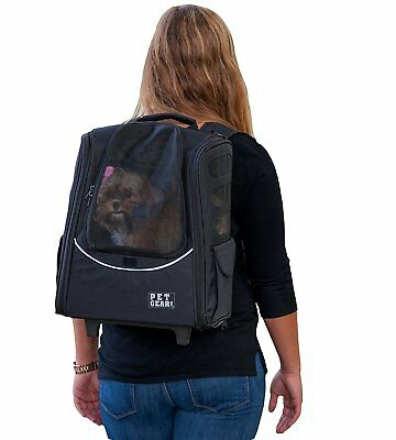 Pet Gear I-GO2 Backpack Carrier - Black for Cats and Dogs NEW