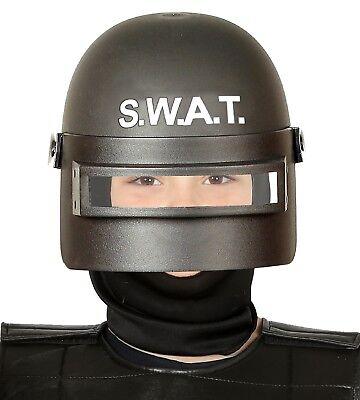 Girls Boys Kids Swat Team Police Riot Gear Hero Helmet Fancy Dress Accessory Hat - Swat Team Helmet