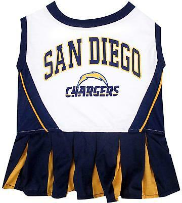 San Diego Kostüme (SAN DIEGO CHARGERS NFL Dog Pet Cheerleader Dress )