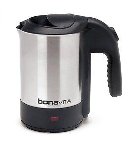 Bonavita BV3825B05 Stainless Steel 0.5 Liter Electric Travel Mini Tea Kettle New