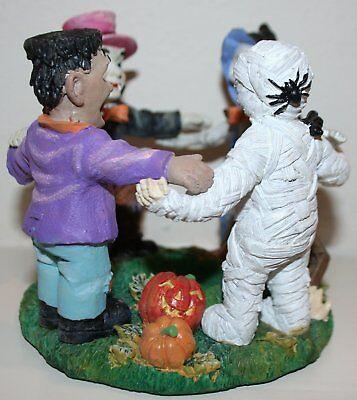 BNIB Four Seasons Poly Stone Halloween Figurine, 4 Monsters - Mummy, Frankenst.. ()
