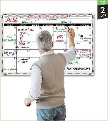 Jumbo Large Dry Erase Wall Calendar - 24x 36 Premium Undated Erasable Deadline