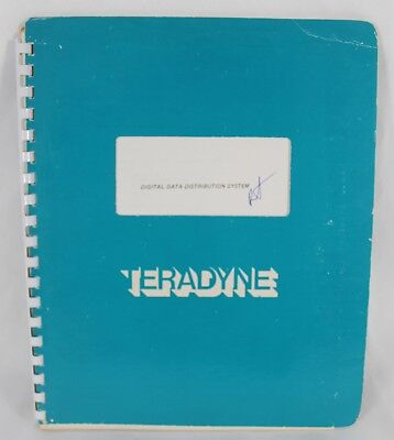 TERADYNE Digital Data Distribution System Manual Vintage Technical Electronics Electronic Technical Manual