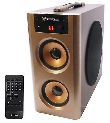 Surround Sound Speakers System Loud Home Theater Bluetooth/USB/FM Rockville
