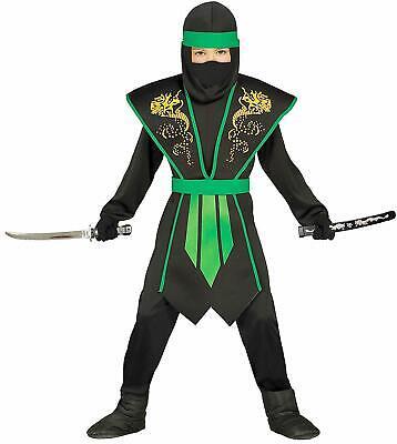 Ninja Kostüm Kinder Jungen grün schwarz Rüstung - Kinder China Kostüm