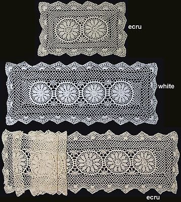 Crochet Lace Placemat Table Runner 14x20
