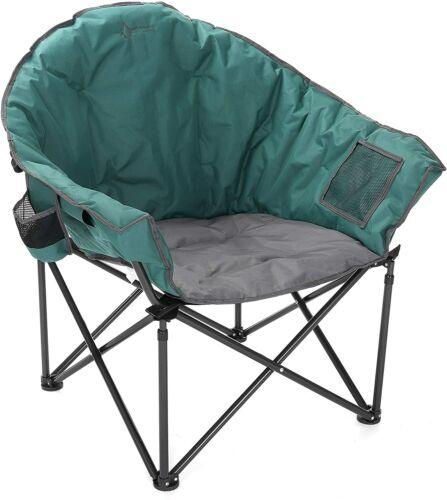 ARROWHEAD OUTDOOR Oversized Heavy-Duty Club Folding Camping Chair (Green)