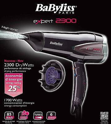 Babyliss Expert 2300 D362E Haartrockner 6 Stufen Fön Haarstylingerat Diffusor