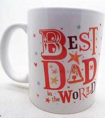 Best Dad In the World 11oz Ceramic Mug fathers day xmas christmas mugs - Worlds Best Dad Mug