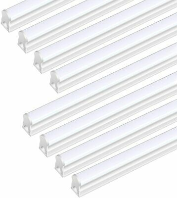 8 Pack T5 LED 4FT Lights Garagе Shop Linkable 6500K Super Bright Ceiling Fixture
