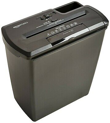Amazonbasics 8-sheet Strip-cut Paper Cd And Credit Card Home Office Shredder.