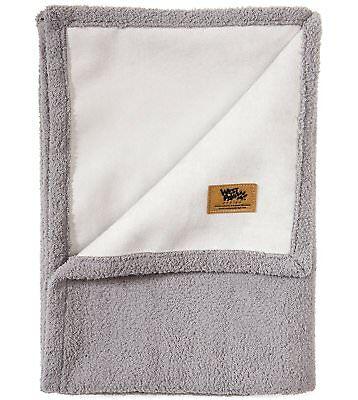 West Paw Big Sky Dog Blanket and Throw Faux Suede/Silky Soft Fleece Pet S Smoke