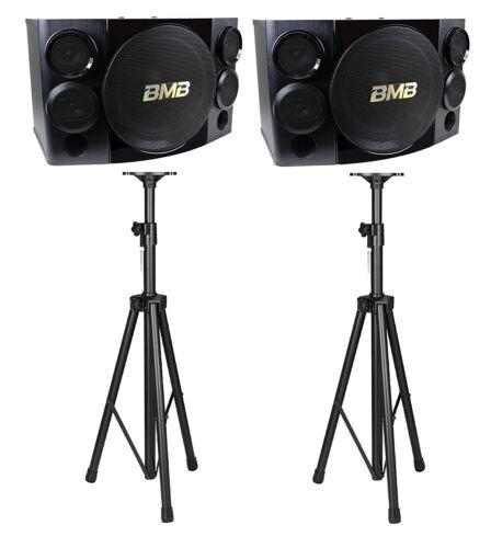 """BMB CSE-310II 500W 10"""" 3-Way Speakers  with Speaker Stands Combo"""