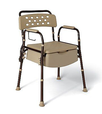 Medline Elements Bedside Commode, Infused with Microban Anti