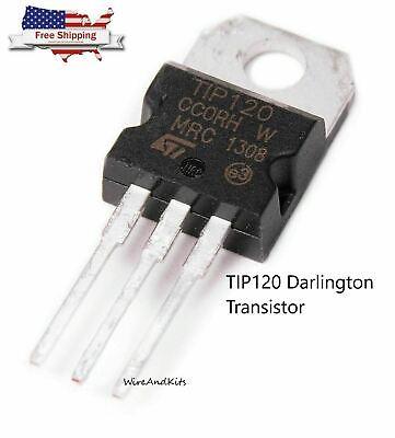 5pcs - Tip120 Npn Darlington Transistor To-220 60v 5a For Ardunio Raspberry Pi