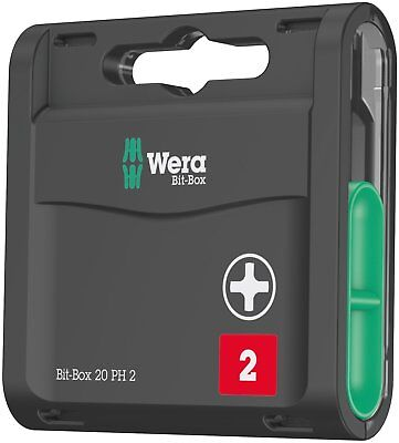 Wera 057750 Universal Phillips Bit-Box Screwdriver Bits PH2 (x20)