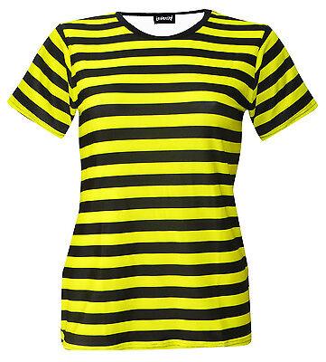 Lady Bug/ Bumble Bee T-Shirt Top Fancy Dress Halloween - Bumble Bee Tshirt