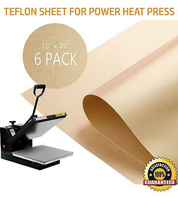 6 Pack Teflon Sheet For Heat Press Transfer Non Stick 16 X 24 Craft Mat