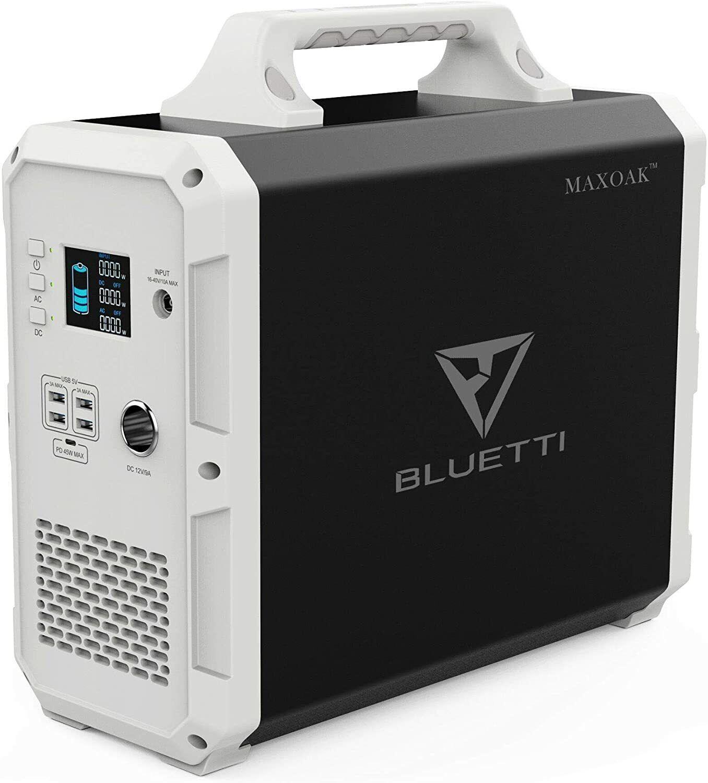 🔋⚡ Maxoak Portable Power Station Bluetti 1500Wh 1000W 110V Solar Generator
