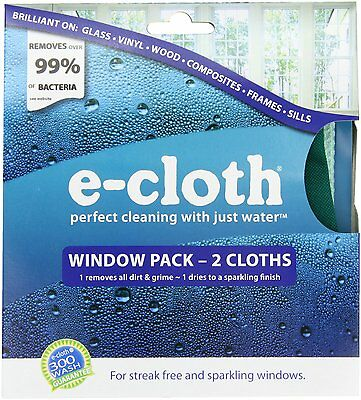 e-cloth Window Pack - Perfect Cleaning with Just Water - 2 Cloths