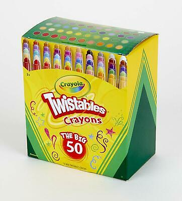 Crayola Mini Twistables Crayons,  Exclusive, 50 Count, Great For Coloring - Twistables Crayons