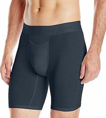 2 Pair Pack   Tommy John Black   Large   Boxer Briefs Underwear  9  Inseam
