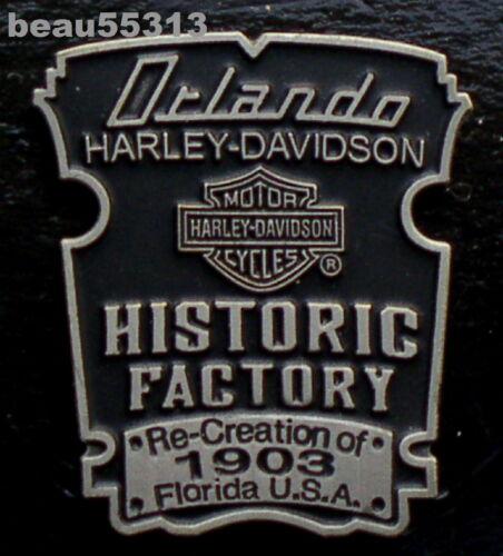 ORLANDO FLORIDA HARLEY DAVIDSON DEALER DEALERSHIP HISTORIC FACTORY VEST PIN