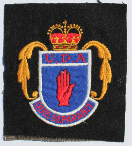 Vintage Irish Ulster Defense Association (UDA) Patch Norther Ireland Bombings