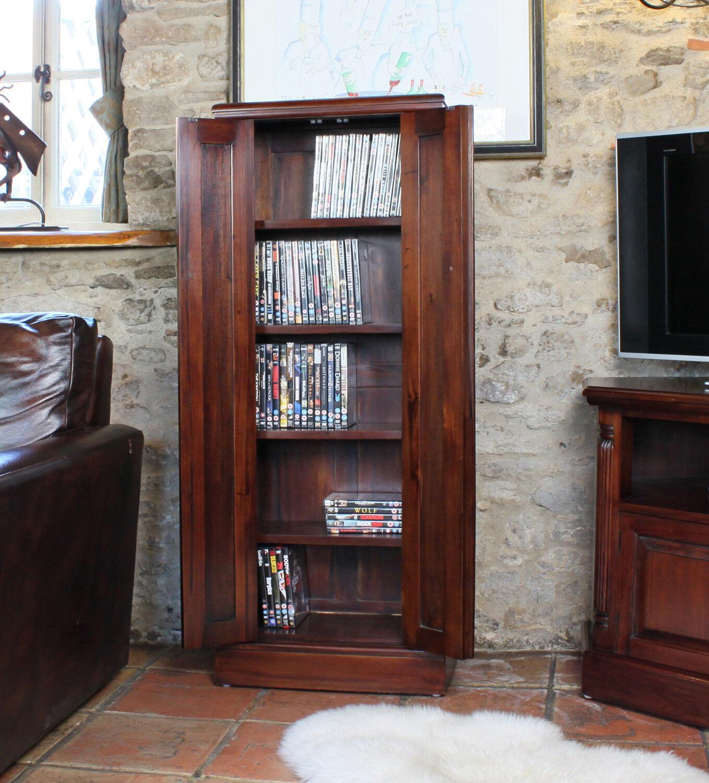 La Roque Premium Solid Mahogany Dark Wood Entertainment CD DVD Storage Cupboard & La Roque Premium Solid Mahogany Dark Wood Entertainment CD DVD ...