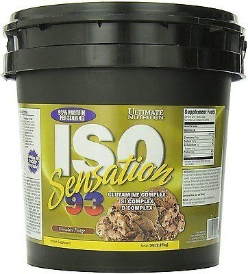 ULTIMATE NUTRITION ISO SENSATION 93 (5 LB) whey protein isolate glutamine (Ultimate Nutrition Glutamine Powder)