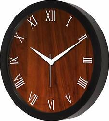 Wooden Wall Look Designer Wall Clock living room, bedroom, Kitchen & offices