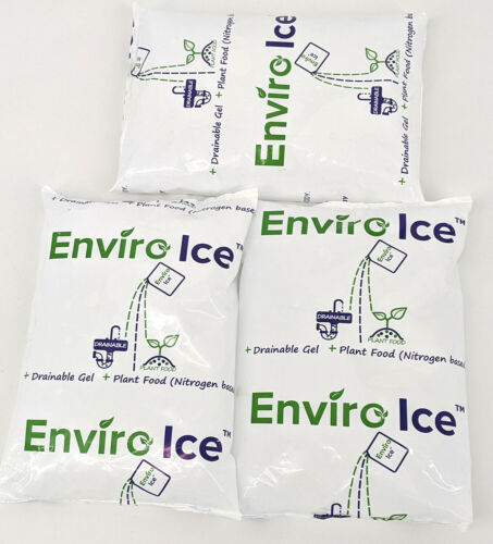 Lot of 3 - Enviro Ice Gel refrigerant ice pack for Shipping, Camping, cooler